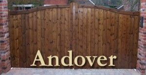 Andover wooden driveway gates