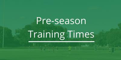 Pre-season Training Times (1)