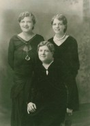 Dorothy, Clara (seated), and Mildred Dudley, c. 1925.