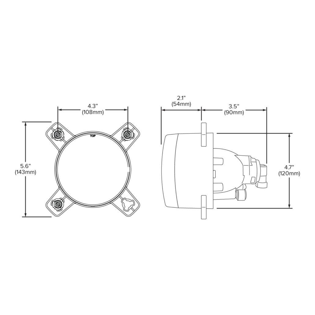 120mm Low Beam Halogen Headlight