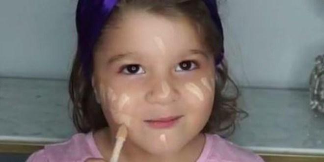 بالفيديو…..فتاة صغيرة السن تضع الماكياج بمهارة