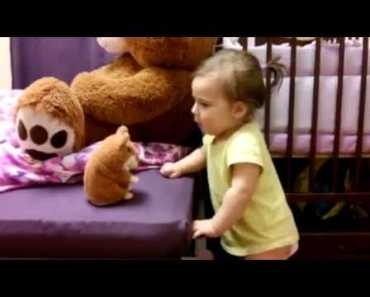 funny Baby With Talking Hamster - funny baby with talking hamster