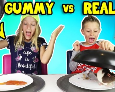 GUMMY vs REAL FOOD 4!!! - gummy vs real food 4