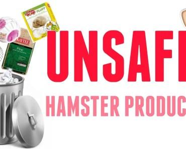 UNSAFE HAMSTER PRODUCTS! - unsafe hamster products