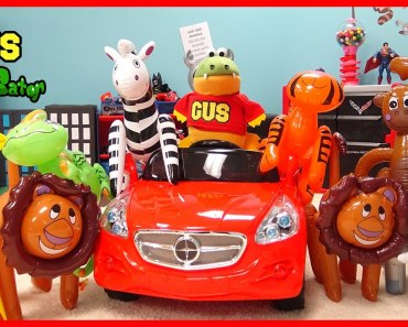 ZOO ANIMALS FOR CHILDREN! Gus Catches Wild Animals Inflatable toys Pretend Play Funny kIds Video - zoo animals for children gus catches wild animals inflatable toys pretend play funny kids video