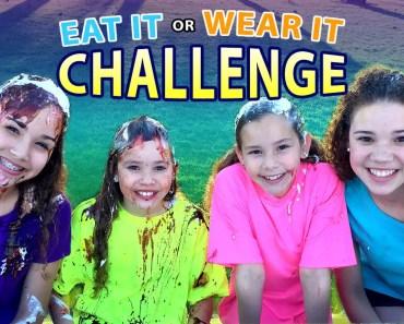 Eat It or Wear It Challenge! (Haschak Sisters) - eat it or wear it challenge haschak sisters