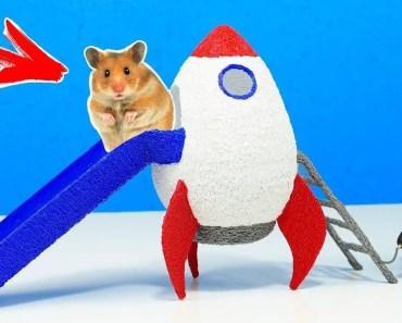 Eine Rutsche in Form einer Rakete für ein Hamster mit 3D Stift selber machen - eine rutsche in form einer rakete fur ein hamster mit 3d stift selber machen