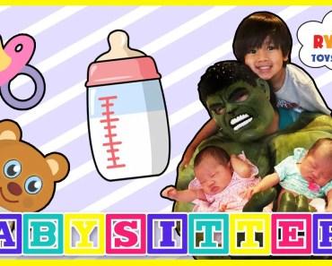 Hulk Funny Kids Video babysitting with Ryan ToysReview - hulk funny kids video babysitting with ryan toysreview