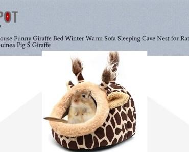 Buy Hamster House Funny Giraffe Bed Winter Warm Sofa Sleeping Cave Nest for Rat Hedgehog Squirre - buy hamster house funny giraffe bed winter warm sofa sleeping cave nest for rat hedgehog squirre