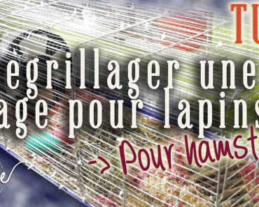 Hamster tuto : regrillager une cage à lapins - hamster tuto regrillager une cage a lapins