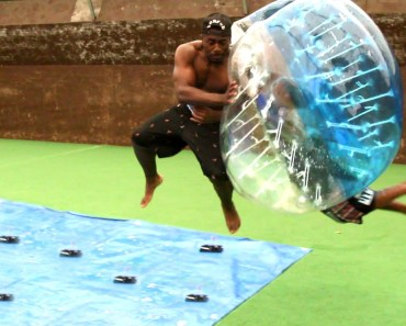SLIP AND SLIDE MOUSETRAP DEATHBALL CHALLENGE w/TGFBRO - slip and slide mousetrap deathball challenge w tgfbro