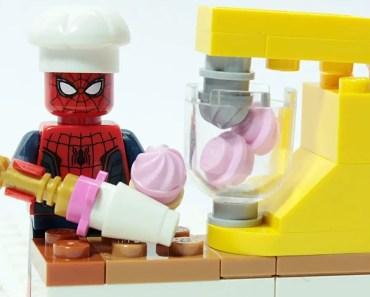 Lego Spider-man Brick Building Cookies Making Superhero Funny Animation - lego spider man brick building cookies making superhero funny animation