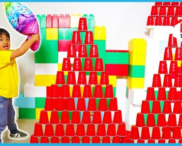Falling Cup Tower Challenge with Ryan ToysReview - falling cup tower challenge with ryan toysreview