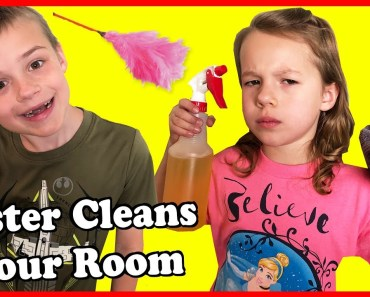 How To TRICK Your Sister TO CLEAN YOUR ROOM! Kids Funny Tutorial Parody - how to trick your sister to clean your room kids funny tutorial parody