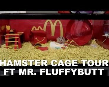 MCDONALD'S THEMED HAMSTER CAGE TOUR - mcdonalds themed hamster cage tour