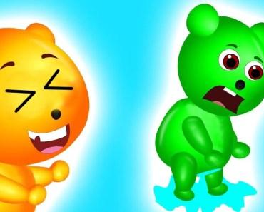 Mega Gummy Bear Need To Pee Funny Story | The Finger Family Cartoon for Kids - mega gummy bear need to pee funny story the finger family cartoon for kids