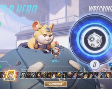 Overwatch - HERO 28 GAMEPLAY!!! [ ALL ABILITIES ] Hammond the Wrecking Ball Hamster! - overwatch hero 28 gameplay all abilities hammond the wrecking ball hamster