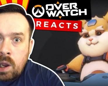 Reaction: Wrecking Ball Origin Story | Overwatch [New Hero: Hamster] - reaction wrecking ball origin story overwatch new hero hamster