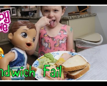 BABY ALIVE Luke Makes A Sandwich FAIL baby alive videos - baby alive luke makes a sandwich fail baby alive videos