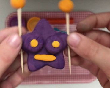 How to make a funny little star with playdough! - how to make a funny little star with playdough