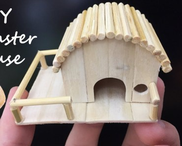 How To Make Mini Hamster House, Popsicle Stick Crafts, DIY House - how to make mini hamster house popsicle stick crafts diy house