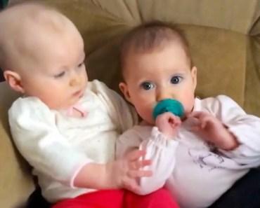 FUNNIEST TWIN BABIES SHARE A PACIFIER   Best Babies Videos Compilation - funniest twin babies share a pacifier best babies videos compilation