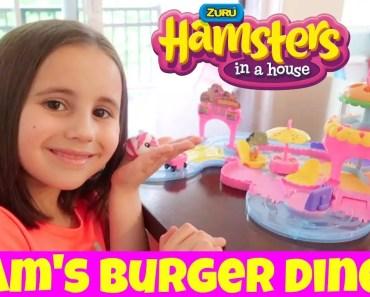 Zuru Hamsters in a House - Ham's Burger Diner Unboxing, Setup & Play -