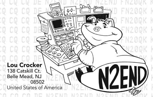 N2END ham radio cartoon QSL by N2EST