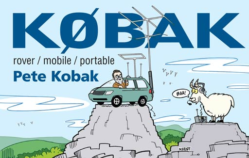 K0BAK cartoon QSL by N2EST