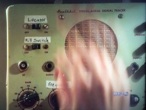 Agent Carter with Heathkit visual-aural signal tracer