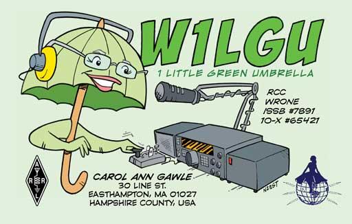 W1LGU cartoon QSL by N2EST