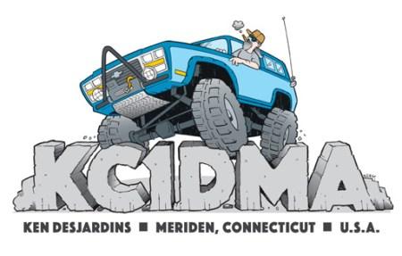 KC1DMA ham radio cartoon QSL by N2EST