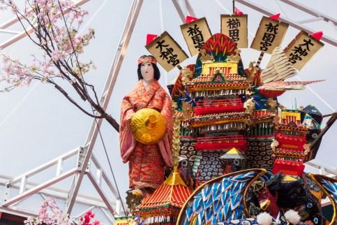 博多祇園山笠・キャナルシティ博多の飾り山笠の写真