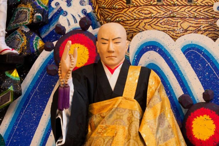 博多祇園山笠・博多駅商店連合会の飾り山笠の写真
