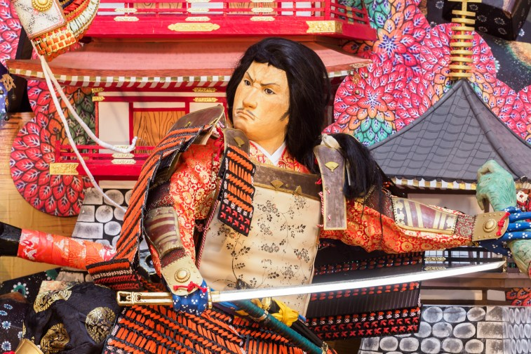 博多祇園山笠・天神一丁目の飾り山笠の写真