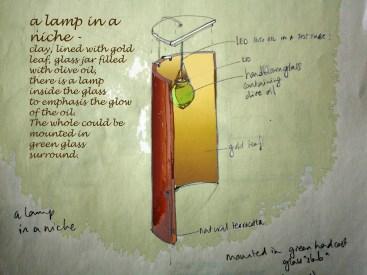Lamp in a niche