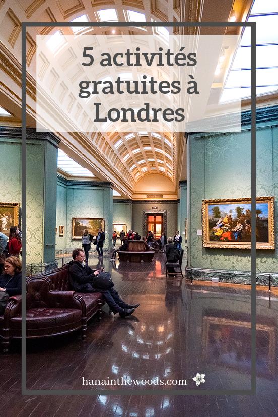 5 activités gratuites à Londres