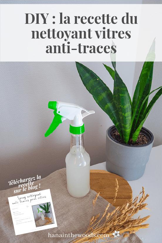 Spray nettoyant naturel pour les vitres