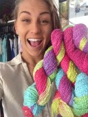 Ashleigh got her yarn!