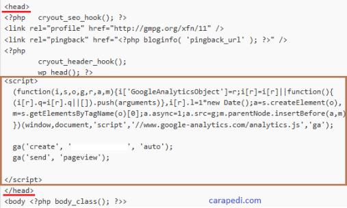 Cara daftar dan pasang google analytics 2