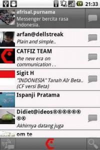 fitur Catfiz Messenger 2