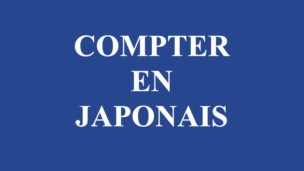 Compter en japonais