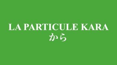 Cours sur la particule kara から