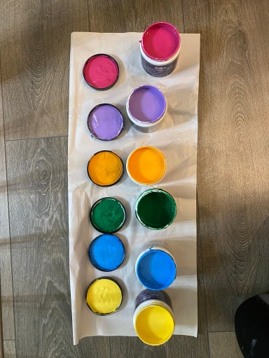 Rainbow palette for a girls room