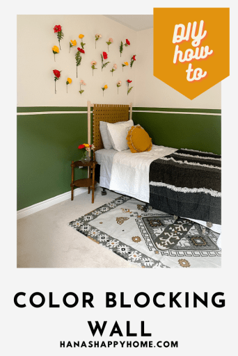 How to paint a color bock wall