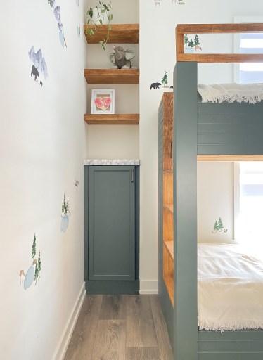 ikea billy bookcase built-in