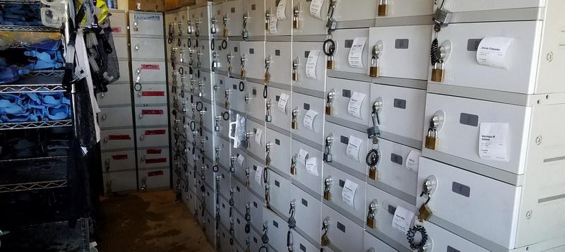 Lockers are available at Hanauma Bay State Park