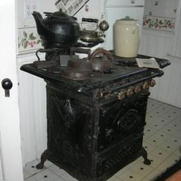iron stove, kitchen