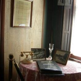 land grant & original wallpaper, library