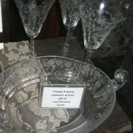 vintage Fostoria, dining rm